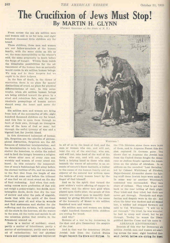 6a2f56be745 La invención del holocausto en 1919 o el derecho a dudar